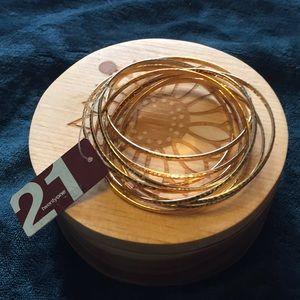 Twenty One Bangle Bracelets (9) New with Tag